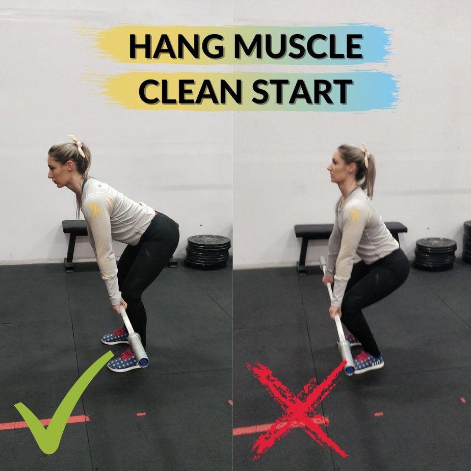 Hang Muscle Clean Start