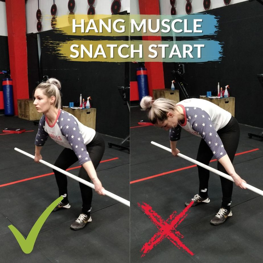 Hang Muscle Snatch Start Position