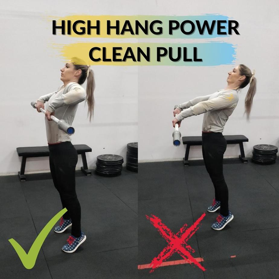 High Hang Power Clean Pull