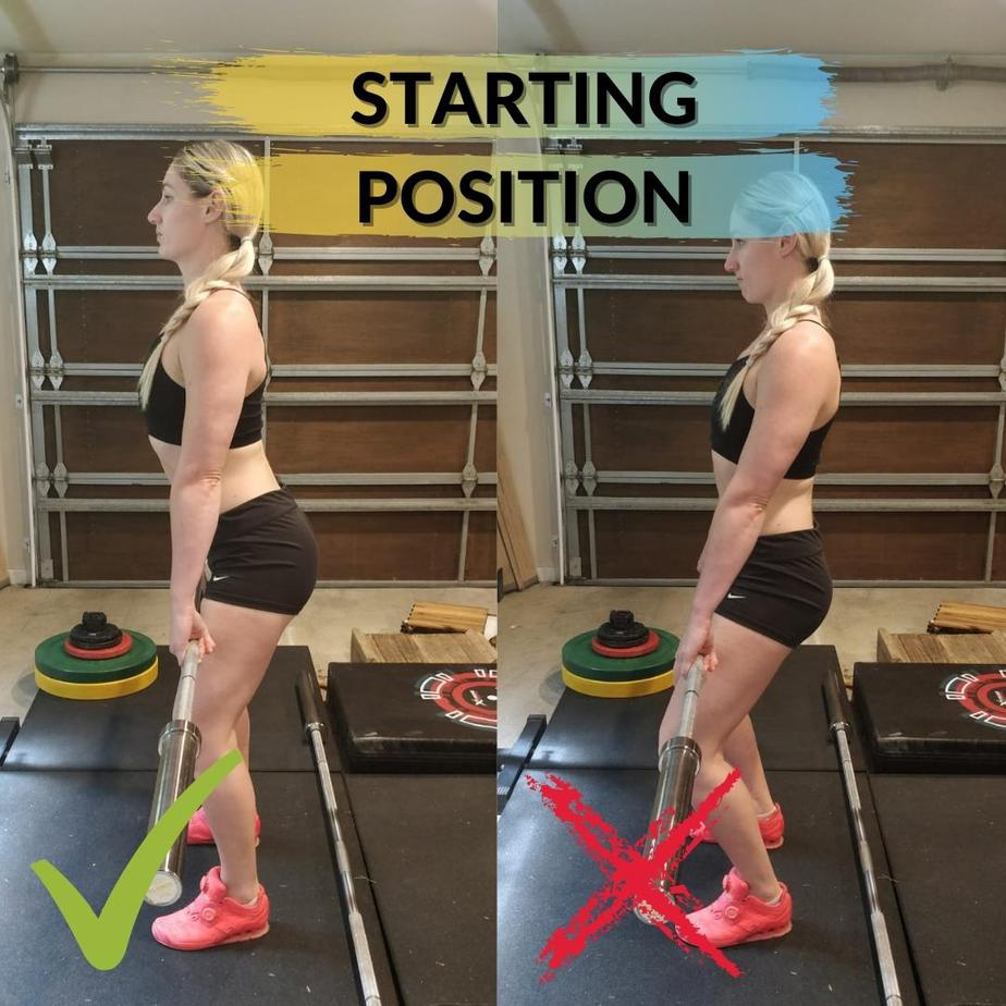 High Hang Power Clean Starting Position