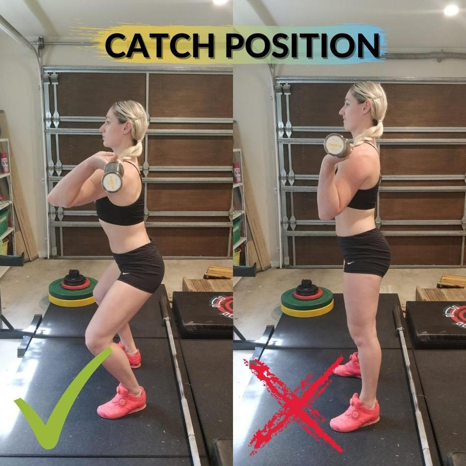 High Hang Power Clean Catch Position