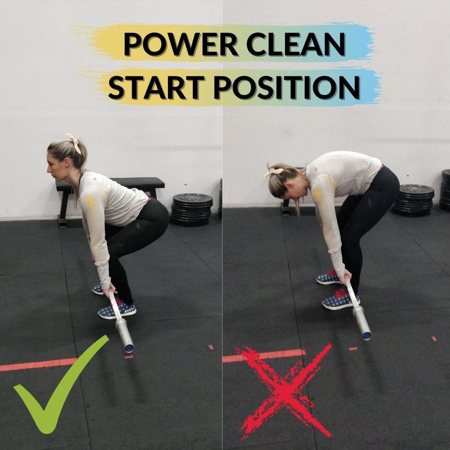 Power Clean Start Position